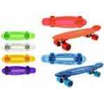 Teddies Skateboard pennyboard se světlem asst barev