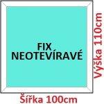 Soft Plastové okno 100x110 cm, FIX neotváravé