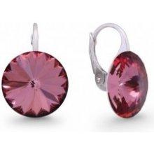 Spark strieborné náušnice Rivoli Swarovski Elements Antique Pink KA112214AP  od 13 a68181029cc