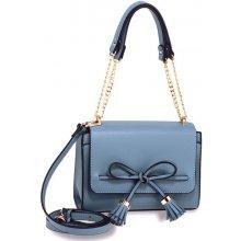 8bce32819a kabelka s mašľou crossbody na rameno modrá