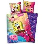 HERDING Posteľné obliečky Spongebob Patrik bavlna 140x200 70x90