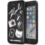Púzdro Karl Lagerfeld Pins Hard Case iPhone 7/8 čierne