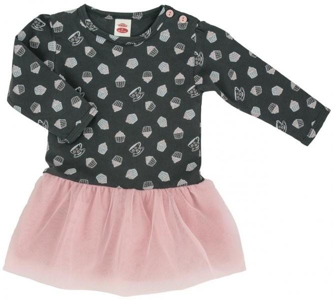 50d2bfa34844 Dojčenské šatôčky a sukňa Makoma Dievčenské šaty Cupcakes - šedo ...