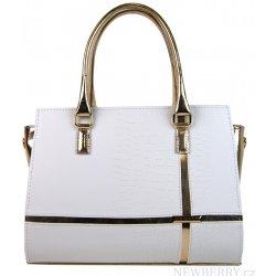 64775b4fdf Grosso elegantná kabelka S679 Bielo-zlatá alternatívy - Heureka.sk