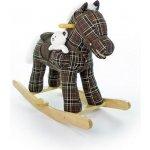 Hojdací koník Milly Mally Pony hnedý kockovaný