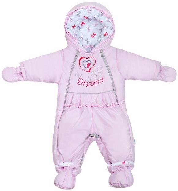 046c23947 Dojčenská kombinéza New Baby Zimná kombinéza Dreams s podšívkou s ...
