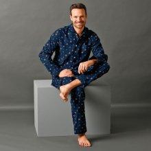 Blancheporte klasické pyžamo s potlačou nám.modrá