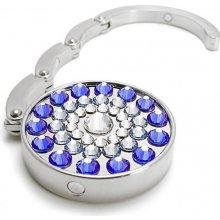 Háčik na kabelku s kameny Swarovski SUN BLUE 787105