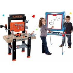 86dab92cc Set pracovná dielňa pre deti Black+Decker Smoby s vŕtačkou a magnetická  obojstranná tabuľa polohovateľná