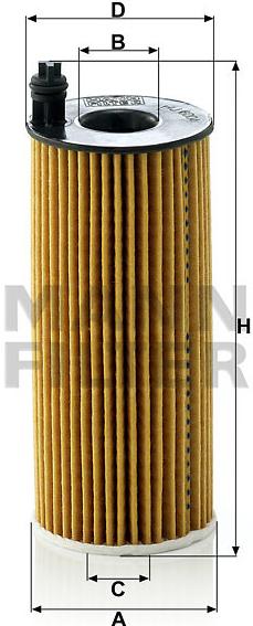 MANN FILTER Olejový filter HU 6004 x - 0