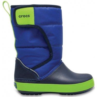 Crocs chlapčenské snehule Kids' LodgePoint Snow Boot 204660-4HD 28-29 modrá