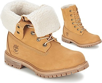 Timberland Authentics Teddy Fleece WP Fold Down beige ab78203f647