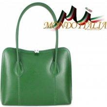 1575a0e63d2a2 Made In Italy kožená kabelka 8010 zelená