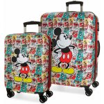 5bbe9f0f54 JOUMMABAGS Sada cestovných kufrov ABS Mickey Posters ABS plast