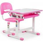 a975542be6cf OneConcept Annika detský písací stôl dvojdielna sada stôl stolička výškovo  nastaviteľné ružová