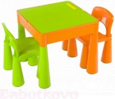 d7b14c0edf0e TEGA Detská sada stolček a dve stoličky oranžová