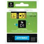 DYMO páska D1 12mm x 7m, čierna na žltej 45018