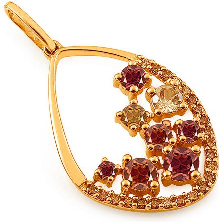435aaa08b iZlato Forever Zlatý prívesok s farebnými kameňmi a champagne diamantmi  0.330 ct KU1082