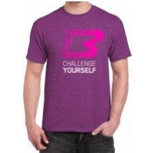 a82e357c04ad BodyWorld Pánske Tričko Challenge Yourself melírová fialová
