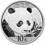 Panda Stříbrná mince 10 Yuan China 30g 2018