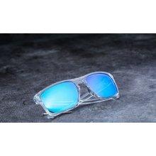 Oakley Sliver polished clear/sapphire iridium