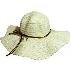 edff69e58 Jenifer SK-1439CREAM Dámsky štýlový slamený klobúk s mašľou krémový ...