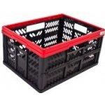 0369e296119b3 N5K, Plastový skládací box, malý, červený, Rozmery: 47,5x34,