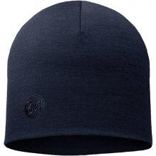 ea8cf52a4 Merino wool thermal hat buff loose solid denim