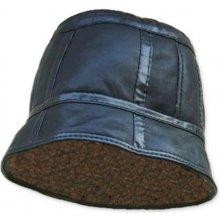 Pánsky kožený klobúk čierny
