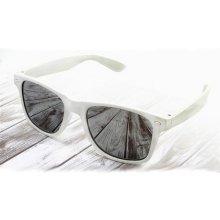 Sunmania zrkadlové wayfarer 043 biele