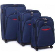 Suitcase 013 cestovné kufre sada Tmavě modrá