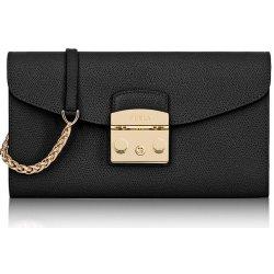 Furla Metropolis S Onyx malá spoločenská luxusná kabelka čierna 962799 3dda7c59285