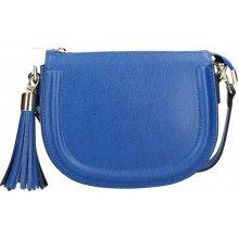 Made In Italy kožená kabelka na rameno Elis azurovo modrá 662f78e56af