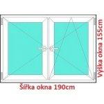 Soft Dvojkrídlové plastové okno 190x155 cm, O+OS