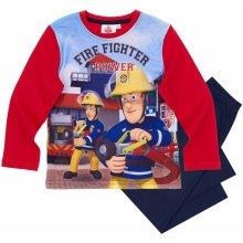 Požiarnik SAM pyžamo s dlhým rukávom červená
