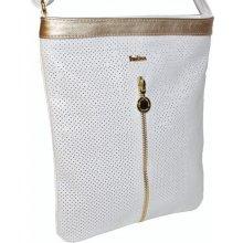 Štýlová crossbody kabelka FASHION - bielo-zlatá