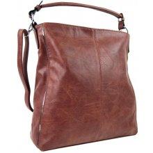 moderná dámska kombinovaná kabelka so striebornou linkou 3067-DE ružová 204b2d39d62