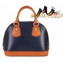 2e03cb8acf Made In Italy kožená kabelka 900 modrá+koňak