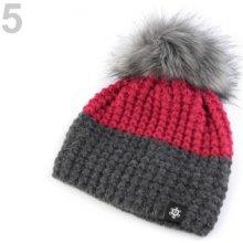a307225cc Dámska zimná čiapka s brmbolcom bordó 1ks