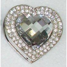Háčik na kabelku Exclusive - biele srdce