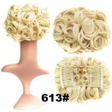 Romantický príčesok - drdol - 613 (beach blond)