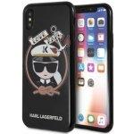Púzdro Karl Lagerfeld Karl Sailor TPU Case iPhone X čierne