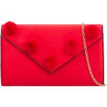 2a3e2b2b96 dámska listová kabelka s malými pompónmi K-T2113 červená