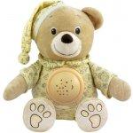 Baby Mix Plyšový medvedík s projektorom krémový