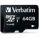 Verbatim PREMIUM microSDXC 64GB UHS-I U1 + adapter 44084