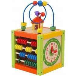 Baby mix Alexis Dřevěná edukační hračka Kostka labyrint zelená