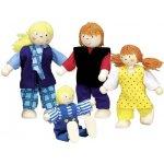 Goki Flexibilné bábky do domčeka Mladá rodina