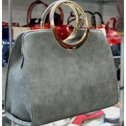 4114f99549 kabelka brúsená okrúhla ozdobná rúčka sivá alternatívy - Heureka.sk