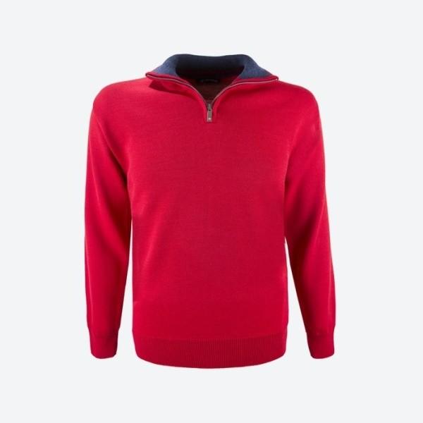 0b654cc5835b Pánsky sveter a rolák KAMA Pánský Merino svetr Kama 4105 red červená ...