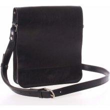 luxusná kožená taška cez rameno Luxor-T čierna c84a7787452